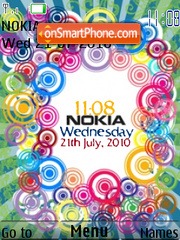 Скриншот темы Nokia Xm Clock