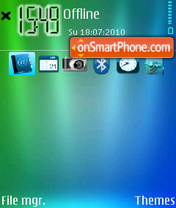 Abstract blue 04 theme screenshot