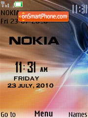Digital Nokia Clock theme screenshot