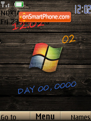 Vista Wood Clock theme screenshot