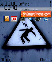High voltage custom icons theme screenshot