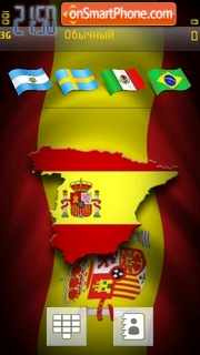 Spain Flag theme screenshot