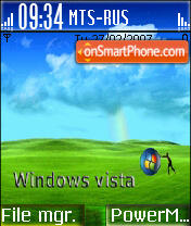 Blue Vista theme screenshot
