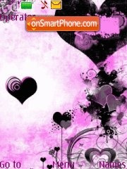 Black hearts theme screenshot