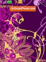 Purple and gold abstract theme screenshot