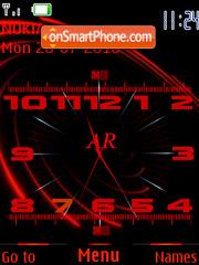Скриншот темы Red clock