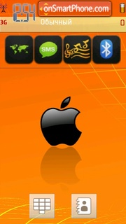 Orange Apple theme screenshot