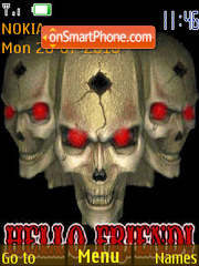Skulls 333 tema screenshot