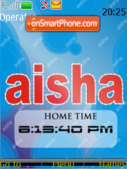 Aisha SWF Clock tema screenshot