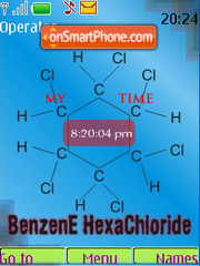 Benzene HexaChloride SWF Clock tema screenshot