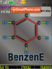 Benzene SWF Clock tema screenshot