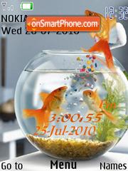 Aquarium Clock es el tema de pantalla
