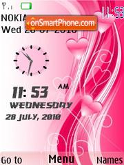 Love Dual Clock theme screenshot