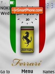 Ferrari Logo Clock theme screenshot