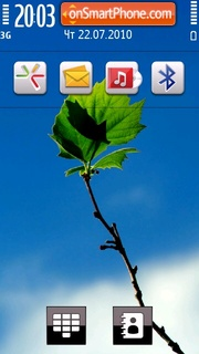 Blue Flora theme screenshot