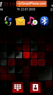Red Black Mosaic tema screenshot