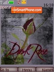 Скриншот темы Gothic style a rose