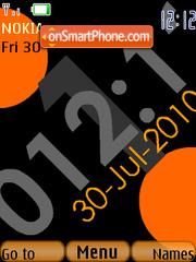 Orange Clock 01 theme screenshot