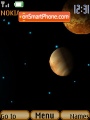 Galaxy animated theme screenshot