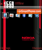 Red Nokia 05 theme screenshot