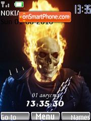 Скриншот темы Skull Clock