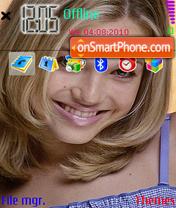 Mandy Moore 01 theme screenshot