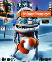 Crazy Frog theme screenshot