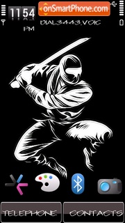 Скриншот темы Ninja by Shawan