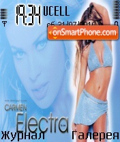 Carmen Electra theme screenshot