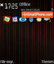 Black red stripes theme screenshot