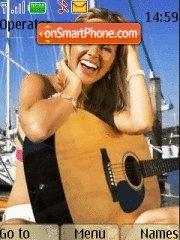 My Girl with Guitar theme screenshot