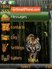 Tiger Face Clock theme screenshot