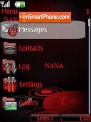 Nokia Red Clock theme screenshot