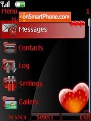 Love Heart Clock es el tema de pantalla