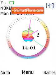 Apple Clock 01 theme screenshot