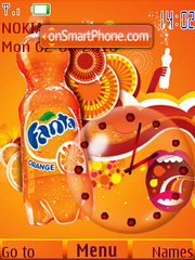 Fanta Clock theme screenshot