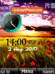 Скриншот темы Nature Clock 01