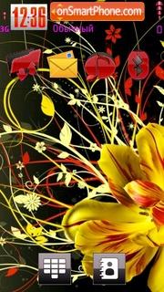 Capture d'écran Neon Flower thème