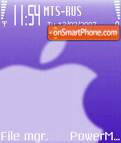 Apple theme screenshot