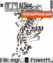 Tiger by Shawan theme screenshot