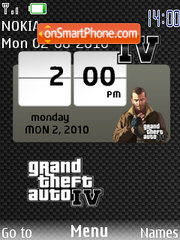 Gta Iv SWF theme screenshot
