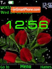 Roses SWF CLock theme screenshot