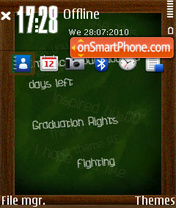 Blackboard fp1 ovi theme screenshot