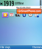 Symbian^3 Colors theme screenshot