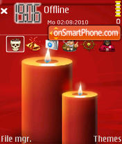 Red candle theme screenshot