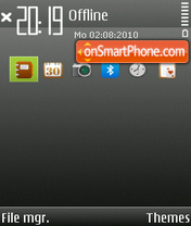 Grey (with bar) theme screenshot