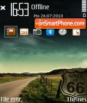 Скриншот темы Route66
