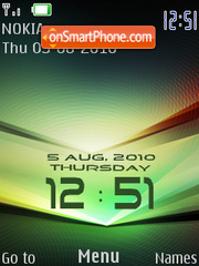 Green Clock 01 theme screenshot
