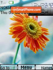Flower Clock 01 theme screenshot