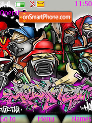Graffiti People theme screenshot